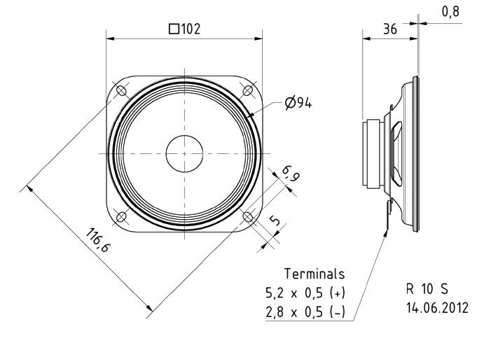 4inch loudspeaker - model sounds inc